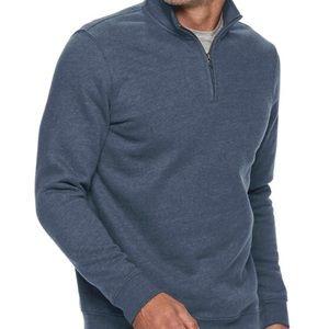 2/$30 Croft Barrow Mens XL Fleece 1/4 Zip Sweater